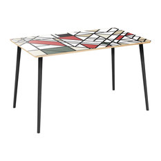 Brixton Flare Dining Table - Organic Modernism