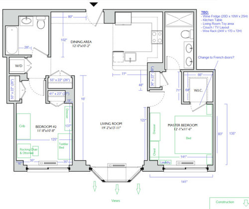 Here's My Apartment Floor Plan, Help Me Lay Out Furniture