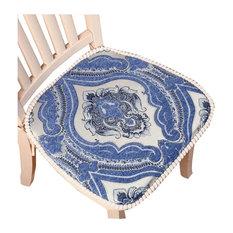Beautiful and Practical Chair Cushion Creative Retro Style Chair Pad, Blue