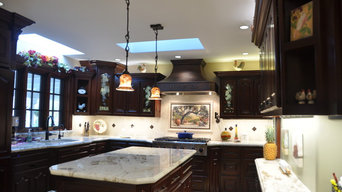 Kitchen Remodel with Angled Power Strips and LED Task Lighting