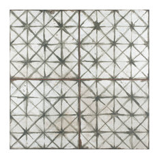 "17.63"" x 17.63"" Royals Cathedral Ceramic Floor and Wall Tile, Set of 5, Sage"