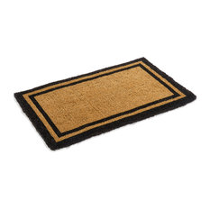 "Classic Black Bordered Coco Mat in variety of Sizes, 30""x48"""