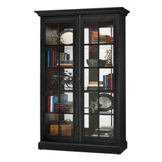 Howard Miller Clawson Display Cabinet, Black