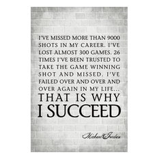 Keep Calm Collection - I'Ve Missed More Than 9000 Shots, Michael Jordan Quote, Motivational Poster - Prints and Posters