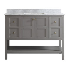 Vinnova - Florence Single Vanity, Gray, Without Mirror, 48