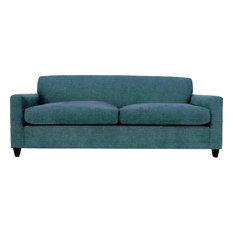 Modern Styled Sofa, Saddel, Walnut Leg Finish