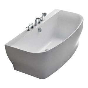 Verona Acrylic Bathtub, White