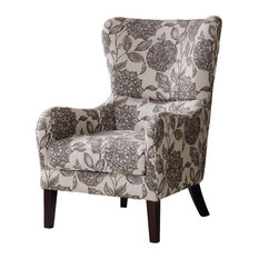 Madison Park Arianna Swoop Wing Chair, Multi