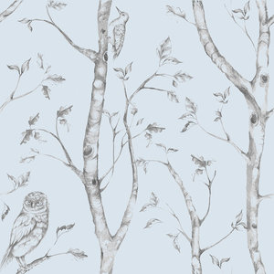 Trees And Birds Peel And Stick Wallpaper Farmhouse Wallpaper By American Wallpaper Design