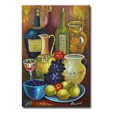 """Mediterranean Still Life"" Canvas Wall Art, Yellow"