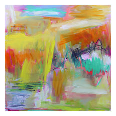 """Original Abstract Painting by Trixie Pitts """"Alice Springs"""", 48""""x48"""""""