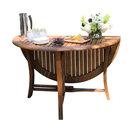 """Round Eucalyptus Folding Table, 48"""""""