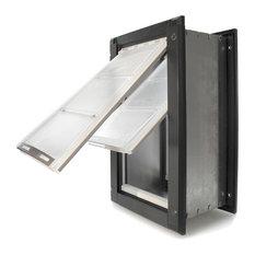 """Endura Flap Pet Door, Wall Mount, Medium Double Flap, Black Frame, 8""""x14"""""""
