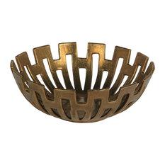 Privilege Small Decorative Bowl, Gold Finish