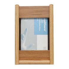 Wooden Mallet 1 Pocket Glove and Tissue Box Holder in Light Oak