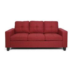 Viviana Three Seater Sofa with Wood Legs