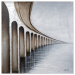 Yosemite Home Decor - Bridge to Nowhere - Yosemite Home Decor presents a stunning painting of a large bridge. The grey tones of the painting offer depth and realness. The hand painted 3D effect is unique and stands out beautifully. This gorgeous painting will look amazing in any room of the home.