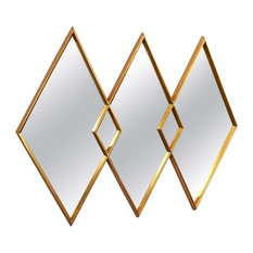 Diamond Gold Metal Wall Mirror