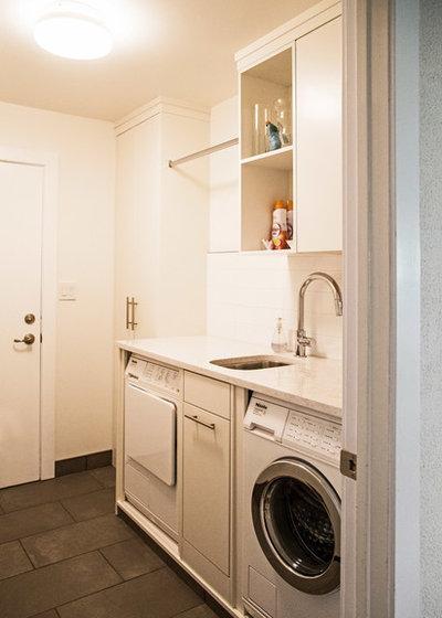 Contemporary Utility Room by Lindsay O. Creative