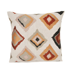 Diamond Graphic Pillow, Rust