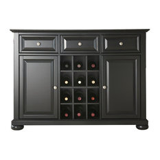 FastFurnishings.com   Black Wood Sideboard Buffet Server Table Dining  Storage Cabinet   Buffets And
