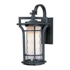 "Maxim 30485 Oakville 18"" Tall 1 Light Wall Sconce - Black Oxide / Water Glass"