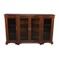 4-Door Mahogany Bookcase