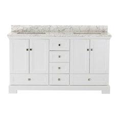 """1st Avenue - Gowan White Bathroom Vanity, 60"""" - Bathroom Vanities and Sink Consoles"""