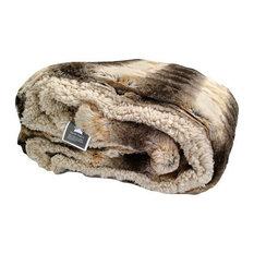 """Tache Safari Faux Fur Throw Blanket, 50""""x60"""""""