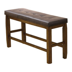 Exceptionnel Acme Furniture   Acme Morrison Counter Height Bench With Storage, Brown And  Oak   Dining