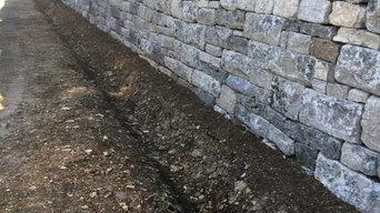 Trockenmauer in Muschelkalk