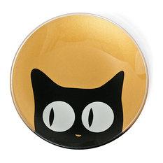 Cat Eye Gold Glass Dish