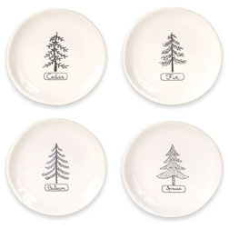 Contemporary Salad And Dessert Plates by Melrose International LLC