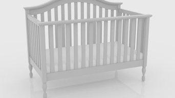 Bailey White 4-in-1 Convertible Crib