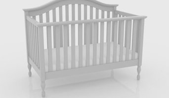 Bailey White 4-in-1 Convertible Crib