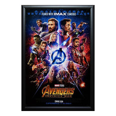 Framed Autographed Movie Poster Avengers: Infinity War