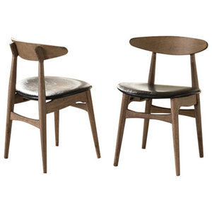 Gdf Studio Issaic Mid Century Design Wood Dining Chairs