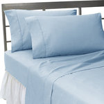 SCALA - 600TC 100% Egyptian Cotton Solid Blue Twin XXL Size Sheet Set - Redefine your everyday elegance with these luxuriously super soft Sheet Set . This is 100% Egyptian Cotton Superior quality Sheet Set that are truly worthy of a classy and elegant look. Twin XXL Size Sheet Includes1 Fitted Sheet 39 Inch (length) X 84 Inch (width)1 Flat Sheet 70 Inch (length) X 102 Inch (width)2 Pillow Cases 20 Inch(length) X 30 Inch (width)