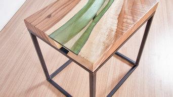 River Bedside Table