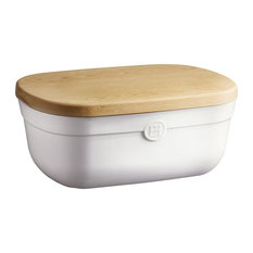 Emile Henry Made in France 14 Inch Bread Box, Flour