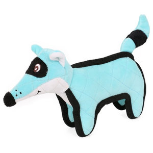 Foxy-Tail Quilted Plush Animal Squeak Chew Tug Dog Toy, Blue