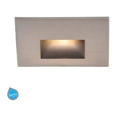 WAC Lighting WL-LED100-AM Rectangular Line Voltage LED Step Light with Amber Len