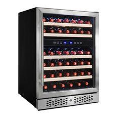 Akdy 46 Bottles Dual Zone Built In Compressor Freestanding Wine Cooler Chiller