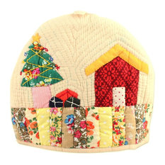 Christmas Time Quilted Cotton Tea Cozy