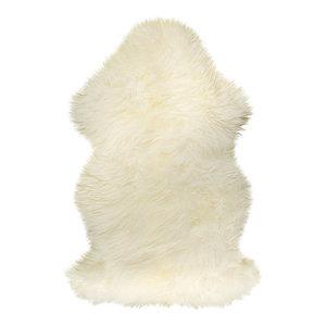 Natural 100% New Zealand Sheepskin Single, 2'x3', Natural