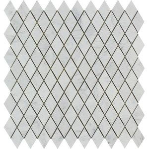 Carrara Benetton Italian Marble Diamond Mosaic, 1 X 2 Polished, 10 sq.ft.