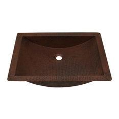 "22"" Copper Bath Shallow Trough Sink"
