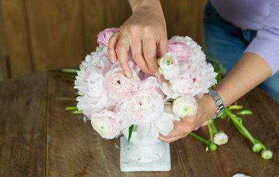 DIY : Réaliser un bouquet de pivoines et renoncules tout en douceur