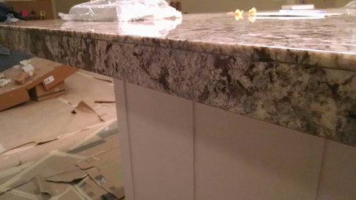 Is This What A Mitered Granite Edge Should Look Like