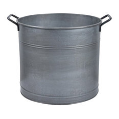 Galvanised Log Bucket